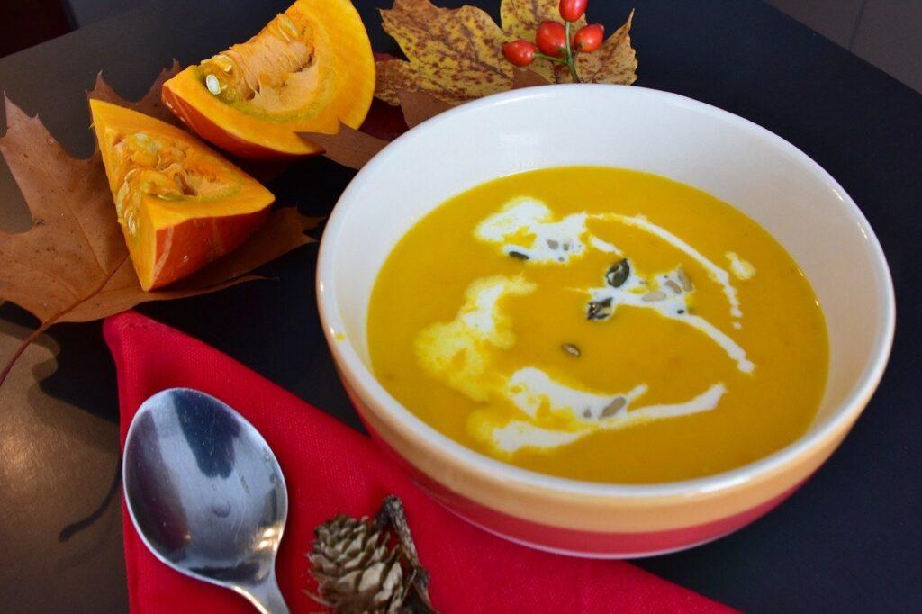 pumpkin soup, soup, autumn