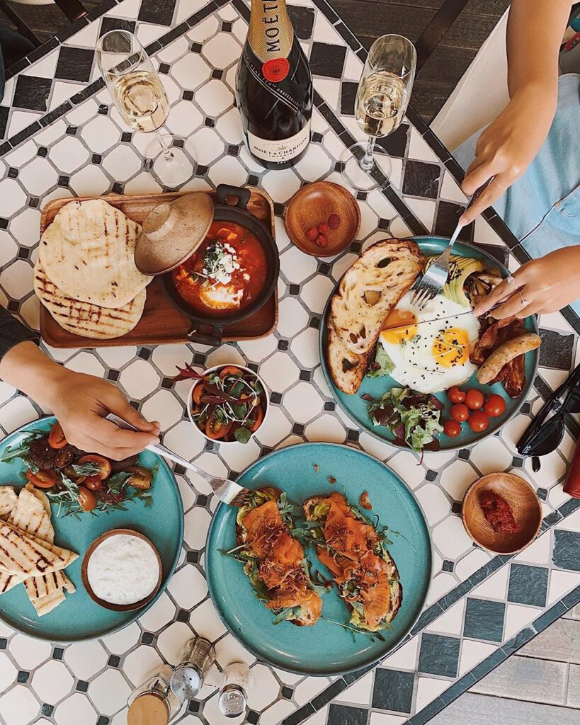 food, table, omelette