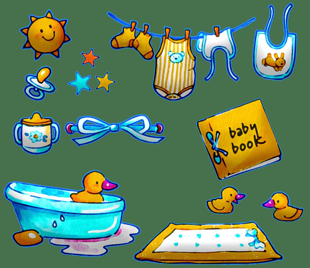 watercolor baby items, clothes, bath-5403364.jpg